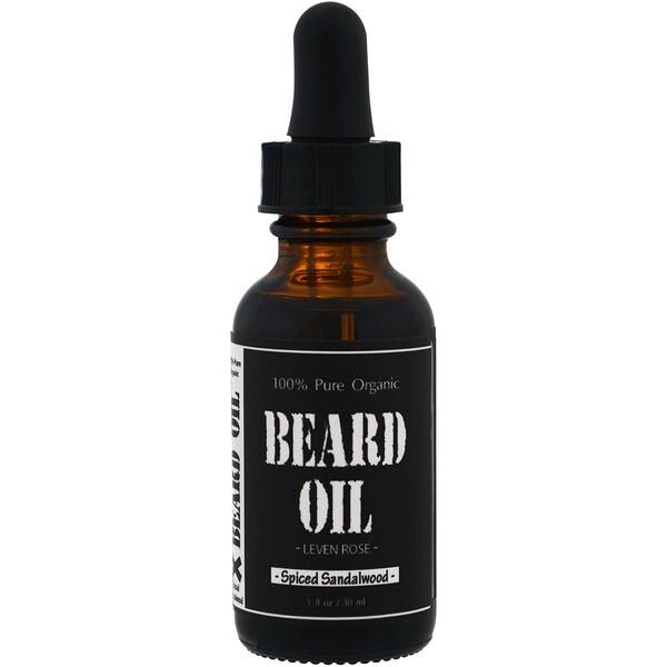 100% чистое органическое масло для бороды, с ароматом сандалового дерева, 1 ж. унц. (30 мл)