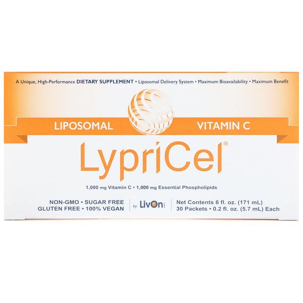LypriCel, Липосомальный витамин С, 30 пакетиков по 0,2 жидких унций (5,4 мл) каждый (Discontinued Item)