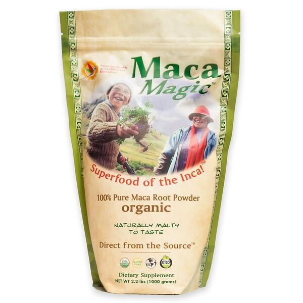 Maca Magic, Органический продукт, 100% чистый порошок из корня маки, 2,2 фунта (1000 г)
