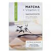 Matcha Road, матча с витаминомС, смесь для приготовления напитка, цитрусовые с имбирем, 10пакетиков по 5г (0,18унции)
