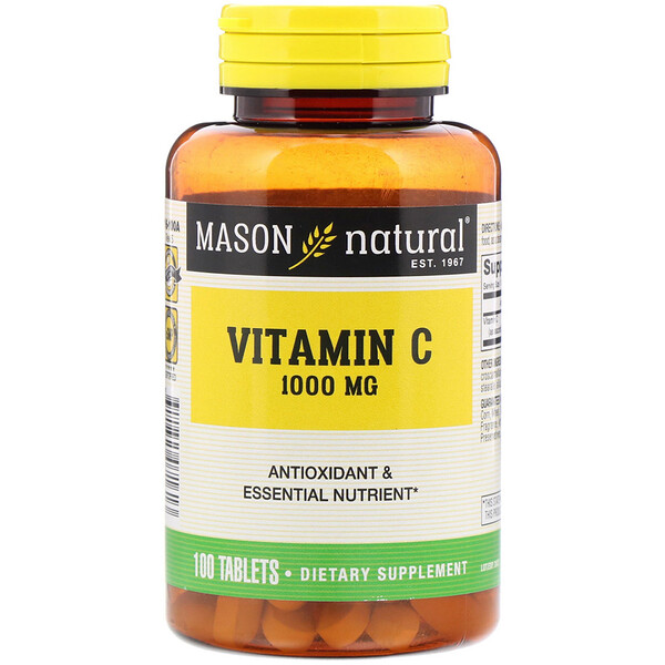 Mason Natural, ВитаминС, 1000мг, 100таблеток