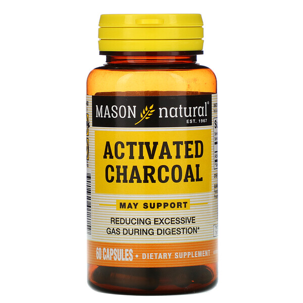 Activated Charcoal, 60 Capsules