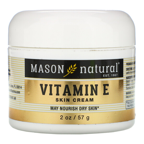 Mason Natural, Vitamin E Skin Cream, 2 oz (57 g)