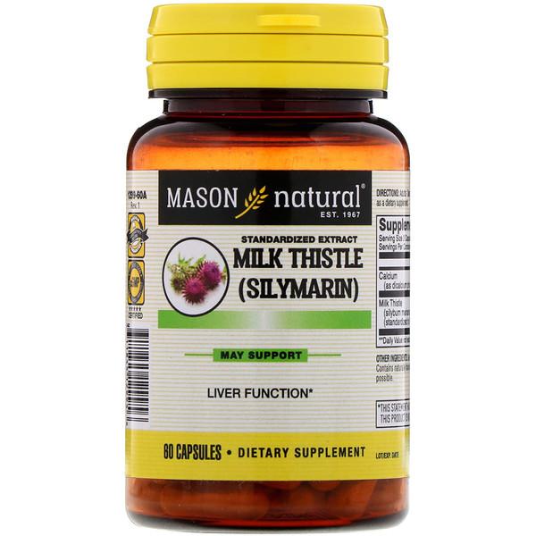 Standardized Extract Milk Thistle (Silymarin), 60 Capsules