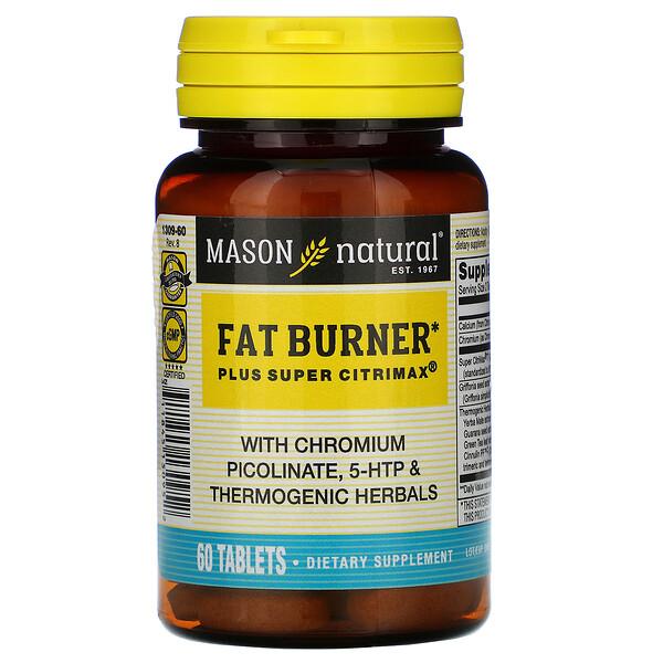 Mason Natural, Fat Burner Plus Super Citrimax, 60 таблеток