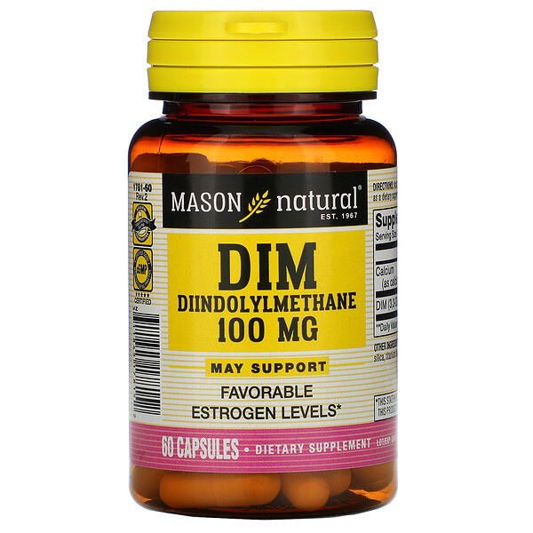 Дииндолилметан (DIM), 100 мг, 60 капсул