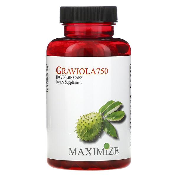 Graviola 750, 100 вегетарианских капсул