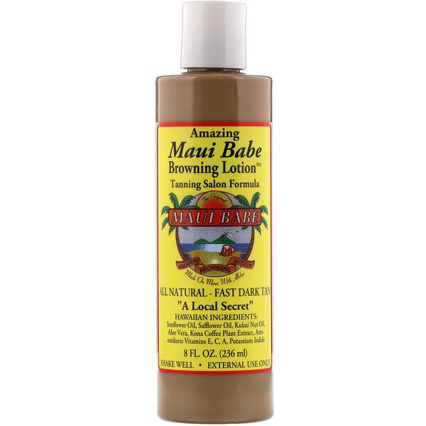 Maui Babe, Amazing Browning Lotion, Tanning Salon Formula, 8 fl oz (236 ml)
