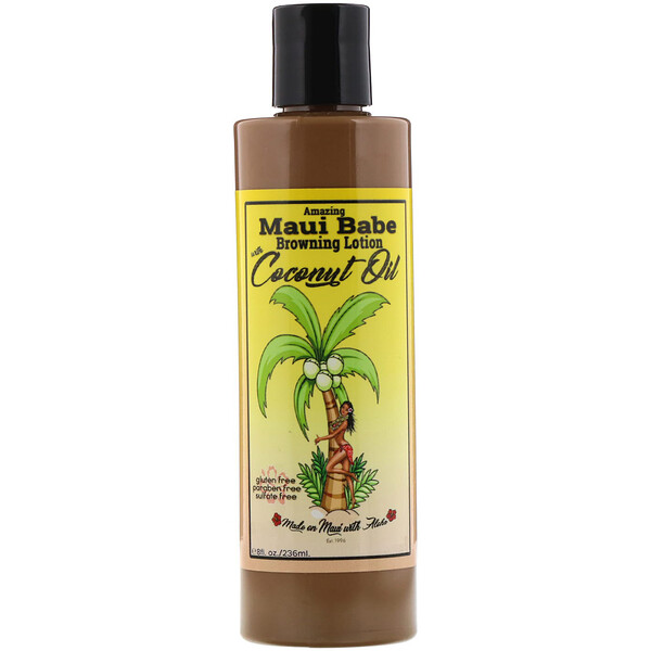 Amazing Browning Lotion with Coconut Oil, 8 fl oz (236 ml)