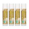Sierra Bees, Органические бальзамы для губ, какао-масло, 4штуки в упаковке весом 0,15унции (4,25г) каждая