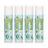 Sierra Bees, Органические бальзамы для губ, без вкуса, 4 шт. в упаковке, 0,15 унции (4,25 г) каждый