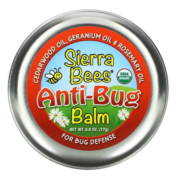 бальзам против насекомых, масло кедра, герани и розмарина, 17г (0,6унции)
