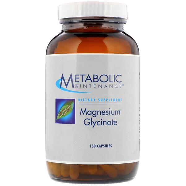 Metabolic Maintenance, Глицинат магния, 180 капсул