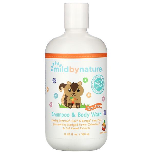 Mild By Nature, Детский шампунь и гель для душа «без слез», с запахом персика, 380мл (12 жидк.унций)