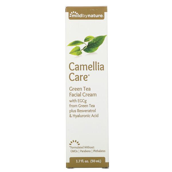 Mild By Nature, Camellia Care, крем для кожи с ЭГКГ из зеленого чая, 50мл (1,7жидк.унции)
