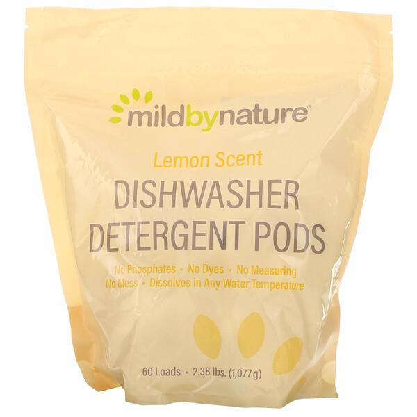 Средство для мытья посуды в посудомоечной машине, с ароматом лимона, 60капсул, 1077г (2,38фунта, 36,48унции)