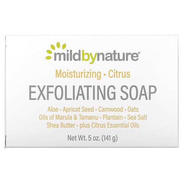 отшелушивающее мыло, с маслами марулы, таману и ши, с цитрусовым ароматом, 141г (5унций)