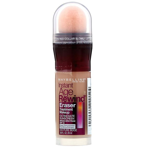Антивозрастная основа под макияж Instant Age Rewind, Eraser Treatment Makeup, оттенок 250 чистый бежевый, 20мл