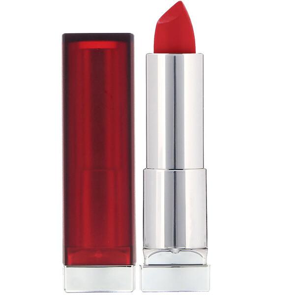 Color Sensational, кремовая матовая помада для губ, оттенок «Сирена в красном», 4,2г