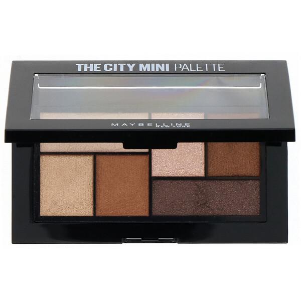 Maybelline, The City Mini, Rooftop Bronzes, палитра теней, 4г