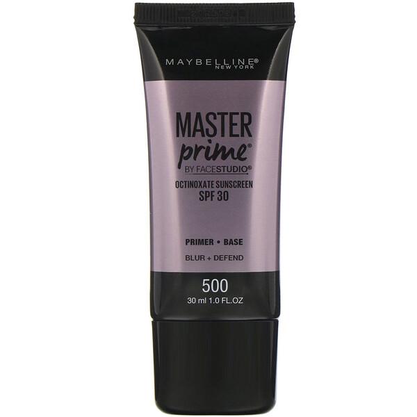 FaceStudio, Master Prime, SPF 30, 500 Blur + Defend, 1 fl oz (30 ml)