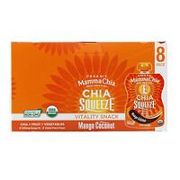 Mamma Chia, Organic Chia Squeeze, Vitality Snack, Mango Coconut, 8 Squeezes, 3.5 oz (99 g) Each