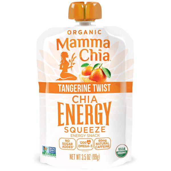 Mamma Chia, Энергетическое пюре с органическими семенами чиа, мандариновое, 99г (3,5унции) (Discontinued Item)
