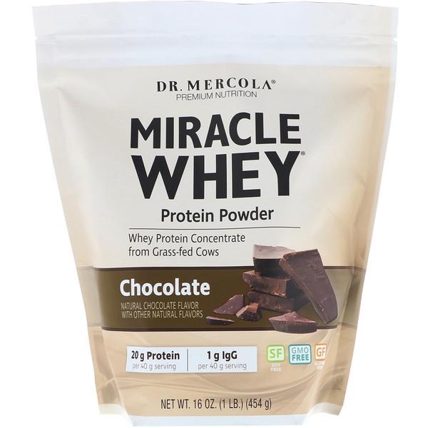 чудесный сывороточный протеин в порошке со вкусом шоколада, 454 г