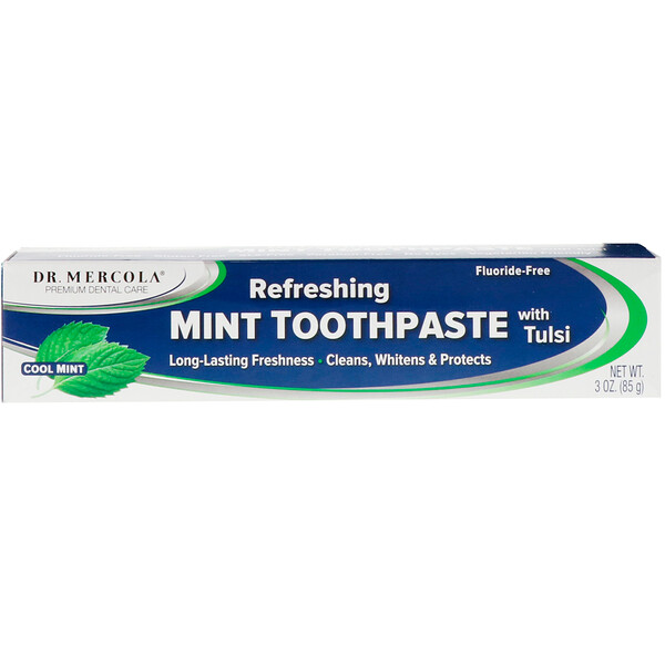 Refreshing Mint Toothpaste with Tulsi, Fluoride-Free, Cool Mint, 3 oz (85 g)