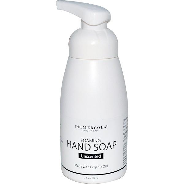 Dr. Mercola, вспенивающееся мыло для рук, без запаха, 207 мл (7 жидких унций)