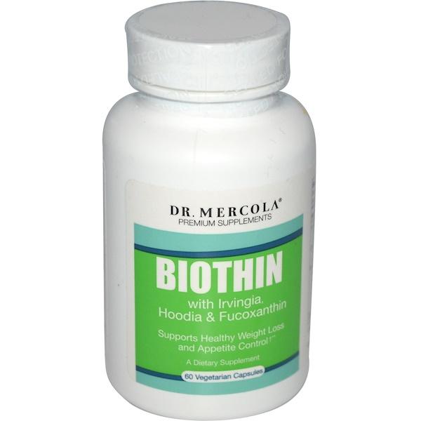 Dr. Mercola, Premium Supplements, BioThin with Irvingia, Hoodia & Fucoxanthin, 60 Veggie Caps (Discontinued Item)