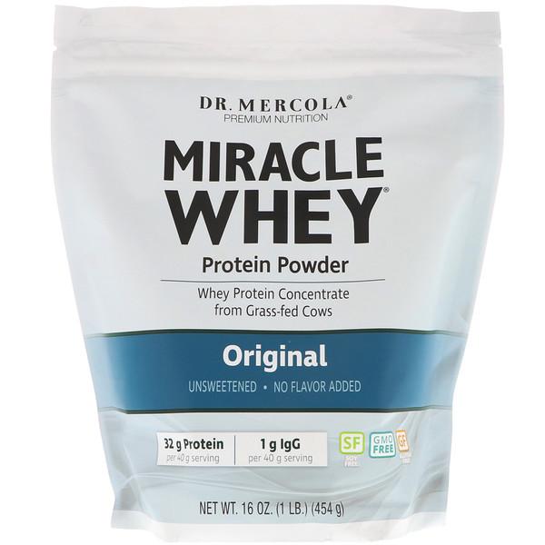 порошок сывороточного протеина Miracle, оригинальный, 16 унций (454 г)
