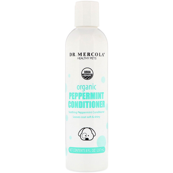 Healthy Pets, Organic Peppermint Conditioner for Dogs, 8 fl oz (237 ml)