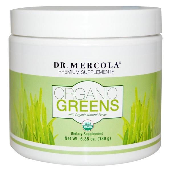 Dr. Mercola, Organic Greens, натуральный вкус, 6,35 унции (180 г) (Discontinued Item)