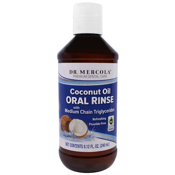 Dr. Mercola, Ополаскиватель для полости рта из серии, с кокосовым маслом, 8,12 жидкой унции (240 мл) (Discontinued Item)