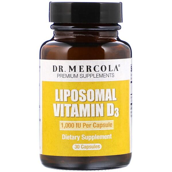Dr. Mercola, Липосомальный витамин D3, 1000МЕ, 30 капсул