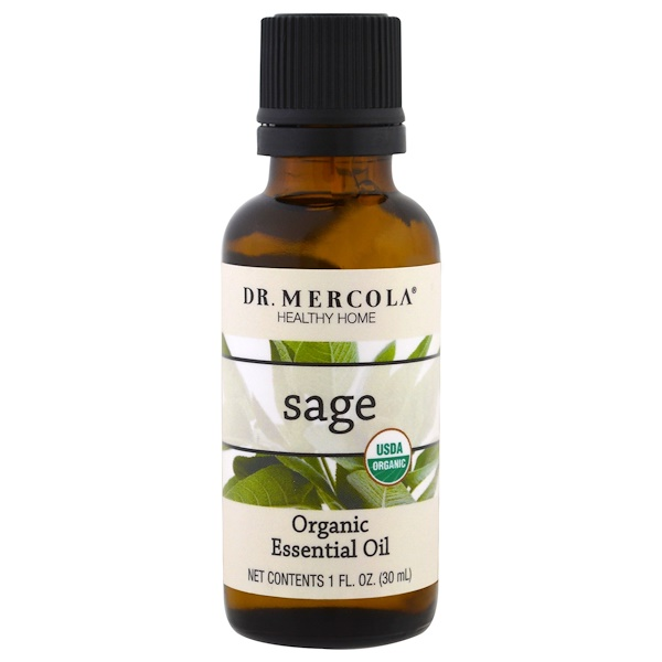 Органическое эфирное масло, Шалфей, 1 унция (30 мл)