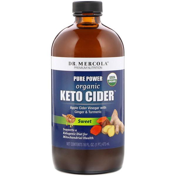 Pure Power, Organic Keto Cider Vinegar, Sweet, 16 oz (473 ml)
