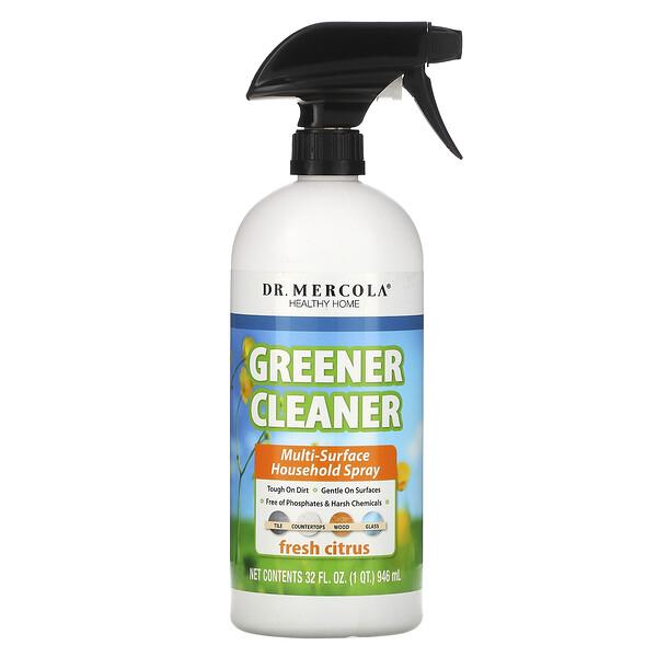 Greener Cleaner, спрей для уборки, подходит для различных поверхностей, с запахом свежего цитруса, 32 жидк.унц. (946 мл)