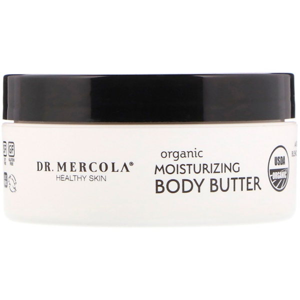 Organic Moisturizing Body Butter, Unscented, 4 oz (113 g)