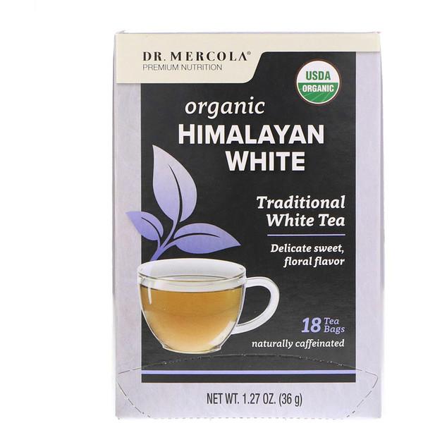 Dr. Mercola, Органический гималайский белый чай, 18 чайных пакетиков, 1,27 унц. (36 г) (Discontinued Item)