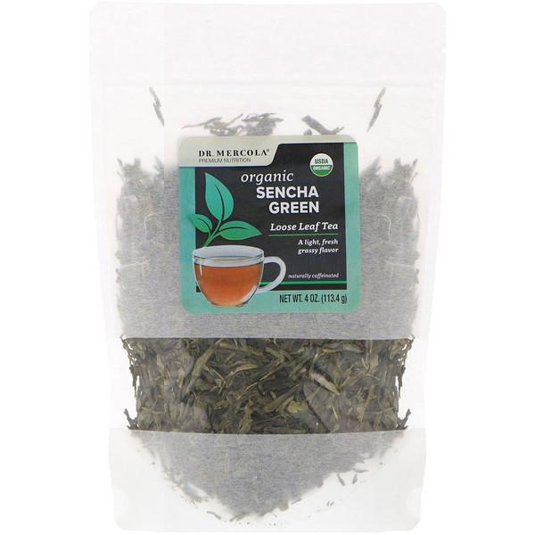 Dr. Mercola, Organic Sencha Green, Loose Leaf Tea , 4 oz (113.4 g) (Discontinued Item)