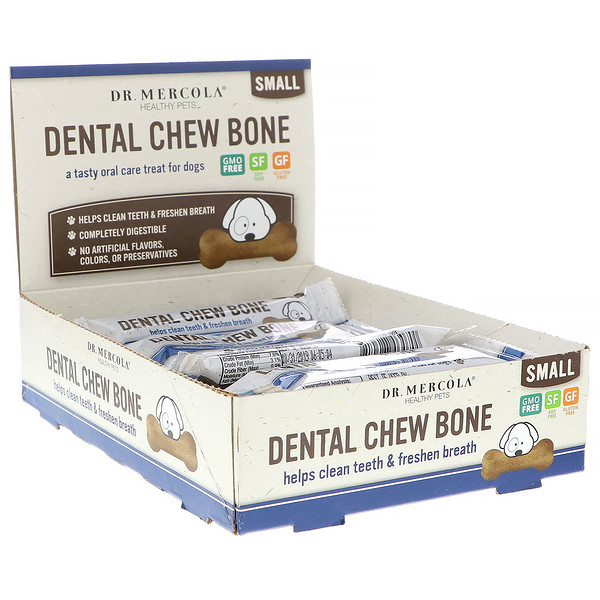 Dental Chew Bone, Small, For Dogs, 12 Bones, 0.77 oz (22 g) Each