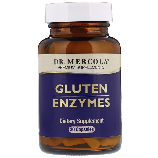 Dr. Mercola, Gluten Enzymes, 30 Capsules (Discontinued Item)