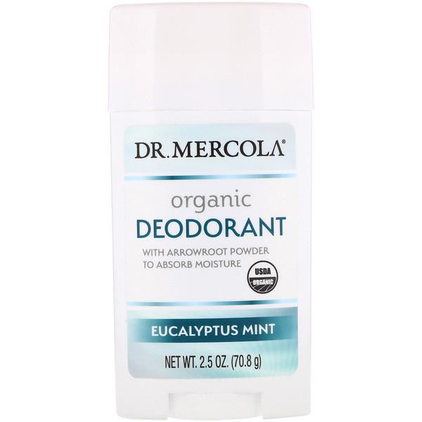 Органический дезодорант, эвкалипт и мята, 2,5 унц. (70,8 г)
