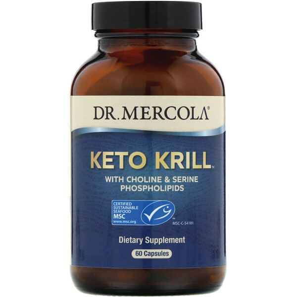 Keto Krill, масло криля с холином и сериновыми фосфолипидами, 60 капсул