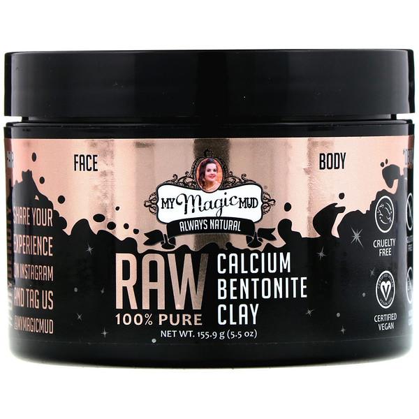 Raw 100% Pure, Calcium Bentonite Clay, 5.5 oz (155.9 g)