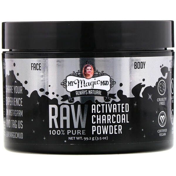 Raw 100% Pure, Activated Charcoal Powder, 3.5 oz (99.2 g)
