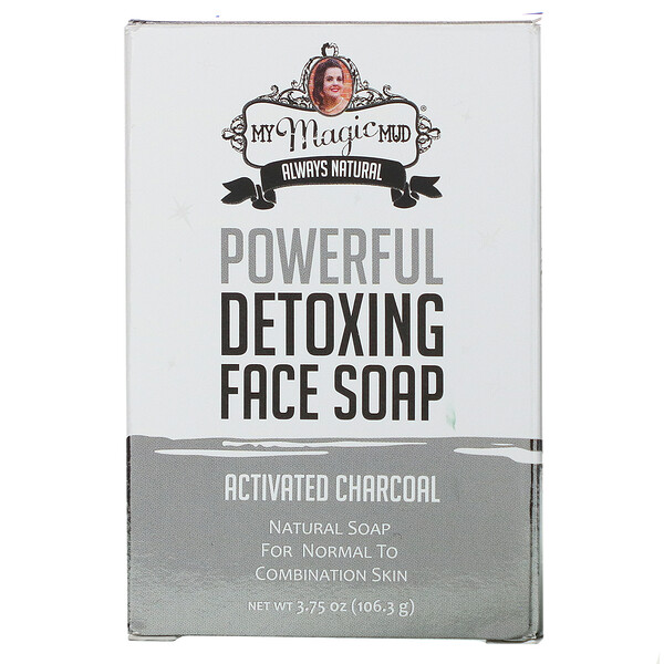 Powerful Detoxing Face Soap, Activated Charcoal, 3.75 oz (106.3 g)