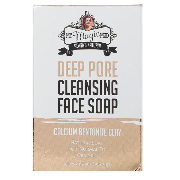 Deep Pore Cleansing Face Soap, Calcium Bentonite Clay, 3.75 oz (106.3 g)